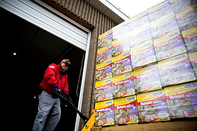 Lance Booth - lbooth@shawmedia.com Al Robel, of Johnsburg, moves a pallet of diapers into the new warehouse for the St. Paul Diaper Bank in McHenry on Wednesday, February 15, 2012.