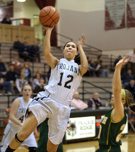 Daniel J. Murphy - dmurphy@shawmedia.com  Cary-Grove's Joslyn Nicholson attempts a basket in the fourth quarter against Crystal Lake South Wednesday February 15, 2012 at Prairie Ridge High School in Crystal Lake. Cary-Grove defeated Crystal Lake South 28-27.