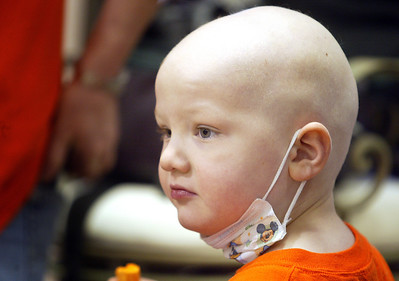 H. Rick Bamman - hbamman@shawmedia.com Sean Keller has Luekemia and his brother Max's teachers and class mates at Zion Lutheran School in Marengo showed their support by shaving their heads last month.