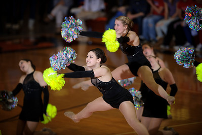 Daniel J. Murphy - dmurphy@shawmedia.com  The Crystal Lake Central dance team performs at halftime Friday February 24, 2012 at Crystal Lake Central High School in Crystal Lake. Crystal Lake Central defeated Dundee-Crown 61-45.