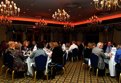 Brett Moist - For Shaw Media Algonquin/Lake in the Hills Chamber members enjoy a nice dinner during the annual awards dinner at the Boulder Ridge Country Club in Lake in the Hills on Friday, February 17th. This award ceremony marked 60 years in the community.