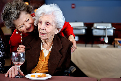 Daniel J. Murphy - dmurphy@shawmedia.com  Dianna Degrenier of Cary talks with her aunt Erna Ericson, 104, at The Fountains at Crystal Lake Sunday February 26, 2012 in Crystal Lake.
