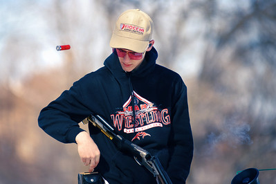 Daniel J. Murphy - dmurphy@shawmedia.com  Jake Beskow, 14, of Ingleside, Il reloads hit shotgun during a round of trapshooting at the McHenry Sportsmen's Club Sunday February 26, 2012 in Johnsburg.