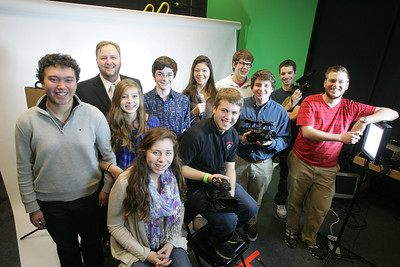 H. Rick Bamman - hbamman@shawmedia.com Barrington High School BHTV class of 10 students created a video as part of a MOXIE contest judged by Rihanna. The video won, and as their reward, Rihanna is now going to visit the school - likely March 22 and likely put on a fundraising concert. The video beat out 52 other submissions from high schools nationwide. From left front: Ariana Baldassano, ChrisTessarolo, Sam Powell, Matt Weidner (red) Back: Peter Chung, advisor Jeff Doles, Taylor Witczak, Brian Keller, Catherine Goetze, Abe Solberg, Tommy Lekai w/camera