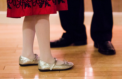 Kyle Grillot - kgrillot@shawmedia.com   Mark Matthaei of the Village of Lakewood dances with his daughter Brynn, 6,  at the Cinderella Daddy Daughter Ball Friday in Crystal Lake. The event, sponsored by the Crystal Lake Park District, sold out all 150 tickets for the event.