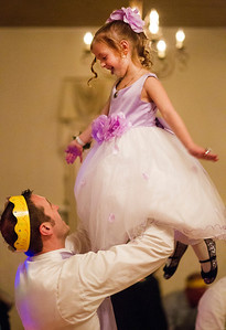 """Kyle Grillot - kgrillot@shawmedia.com   Damon Hill of Woodstock spins his daughter Morgan, 5, while dancing at the Cinderella Daddy Daughter Ball Friday in Crystal Lake. """"I remember my dad doing this years ago with my sister,"""" said HIll, """" and now I get to myself."""" The event, sponsored by the Crystal Lake Park District, sold out all 150 tickets for the event."""