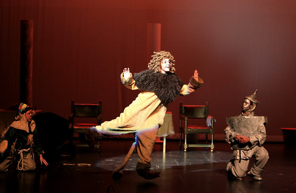 Sandy Bressner - sbressner@shawmedia.com<br /> Nicoletta Calabrese of St. Charles rehearses a scene as the Lion for a production of The Wizard of Oz at the Batavia Fine Arts Centre. Performances run Feb. 10-12.