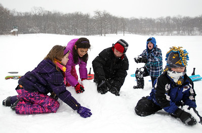 Monica Maschak - mmaschak@shawmedia.com After a half day of school, students of St. Thomas in Crystal Lake spent the afternoon sledding and building ramps at Veteran Acres Park on Wednesday, February 27, 2013. Tuesday's snow storm brought up to 10 inches of snow to some northern parts of the county.