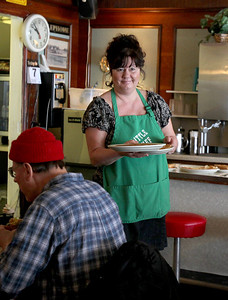 Sarah Nader - snader@shawmedia.com Owner Terry Fair works at Little Chef in McHenry on Friday, February 8, 2013. Terry took over the 43 year old business from her mom Sherry about four years ago.