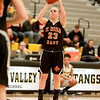 St. Charles East's Amanda Hilton sinks three points during their game at Metea Valley Thursday night.