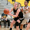 Hannah Nowling of St. Charles East looks for a shot during their game at Metea Valley Thursday night.