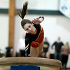 Megan McGee of Batavia competes on the vault during the 2013 I.H.S.A. Sectional Gymnastics Championship at Glenbard West High School Tuesday night.