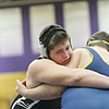 Rob Winner – rwinner@shawmedia.com<br /> <br /> Kaneland's Zach Theis (left) competes against Sterling's Curtis Lilly during their 285-pound finals match at the Class 2A Rochelle Sectional on Saturday, Feb. 9, 2013. Theis won with a 3-0 decision.