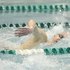 Bill Ackerman — backerman@shawmedia.com<br /> St. Charles North's Kyle Gannon swims to a fifth place finish in the championship final of the 500 yard freestyle in 4:31.82 at the IHSA state boys swimming and diving finals at New Trier East High School on Saturday, Feb. 23, 2013.