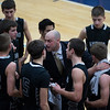 Kaneland's head coach Brian Johnson talks to his team during a time out against St. Francis at The Class 3A IMSA Regional Semifinals in Aurora, IL on Wednesday, February 27, 2013 (Sean King for The Kane County Chronicle)