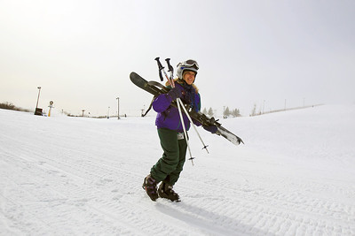 Sarah Nader - snader@shawmedia.com Sue Schuerr of Fox River Grove works with Adaptive Adventures at Wilmot Mountain in Wilmot, WI. Adaptive Skiers is a group that works with wounded soliders, or those with developmental disorders such as cerebral palsy, or any other physical impairment and teaches them how to ski.