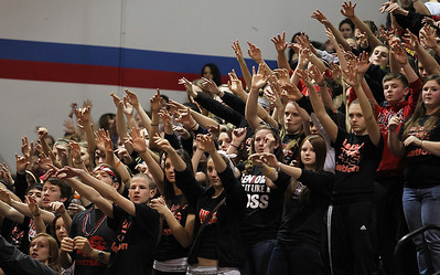 H. Rick Bamman - hbamman@shawmedia.com Huntley fans watch as the girls basketball team beats Wheaton Warrenville South, 47-43, on Monday to reach the state finals for the first time.