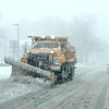A plow truck makes its way down Route 31 in Geneva during Tuesday afternoon's snow storm.(Sandy Bressner photo)