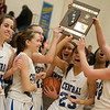 Karen Naess For The Kane County Chronicle<br />  Burlington Central celebrates the win against Plato on Friday at Burlington for the Class 3A Regional Championship.