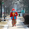 Jack Kramer of St. Charles, as Polyester, strolls Third Street in downtown Geneva.(Sandy Bressner photo)
