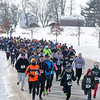 Over 600 runners make their way down the start of the course at The Super Shuffle 5K at Geneva Middle School South in Geneva, IL on Sunday, February 02, 2014 (Sean King for Shaw Media)