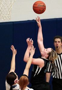 Kyle Grillot - kgrillot@shawmedia.com  Woodstock North sophomore Haley Ahr (35) puts up a shot during the fourth quarter of the girls basketball game Monday in Johnsburg. Johnsburg beat Woodstock North, 51-33.