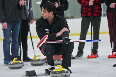 Michelle LaVigne/ For Shaw Media Curling lessons were offered at the Crystal Lake Ice House for interested participants on Sunday February 16th, 2014.