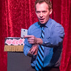 Magician Scott Piner performs a magic trick at Steel Beam Theatre in St. Charles, IL on Sunday, February 16, 2014 (Sean King for Shaw Media)