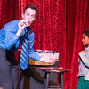 Magician Scott Piner performs a magic trick with the assistance of a member of the audience Daniella King 7, of St. Charles at Steel Beam Theatre in St. Charles, IL on Sunday, February 16, 2014 (Sean King for Shaw Media)