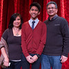 Magician Arman Sangalang 16, (Center) with his parents Imelda and Apollo Sangalang at Steel Beam Theatre in St. Charles, IL on Sunday, February 16, 2014 (Sean King for Shaw Media)