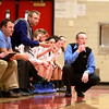 St. Charles North head coach Sean Masoncup watches the action during their Glenbard East Regional game against Bartlett Wednesday night.