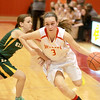 Batavia's Bethany Orman drives toward the basket during their regional game against Elk Grove Tuesday night.