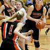 St. Charles East's Hannah Nowling grabs a rebound during their Batavia Regional game against Willowbrook Tuesday night.