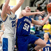 Geneva's Grace Loberg goes up for a shot during their Wheaton North Regional game against Wheaton North Thursday night.