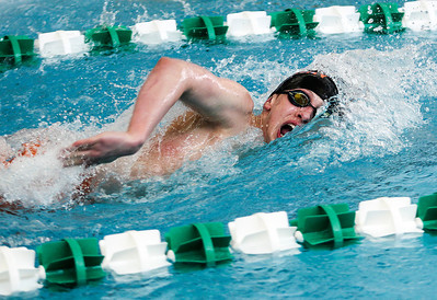 Sarah Nader- snader@shawmedia.com McHenry's Trey Schopen competes in the 200 yard freestyle final during Saturday's swimming sectional at Stevenson High School February 22, 2014. Schopen finished second with a time of 1:44.25.