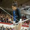 Geneva's Claire Rose Ginsberg on the Uneven Parallel Bars at The Girls Gymnastics State Meet at Palatine High School in Palatine, IL on Saturday, February 22, 2014 (Sean King for Shaw Media)