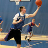 Geneva's Nate Navigato shoots the ball during practice at the school Wednesday afternoon.