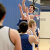 Geneva's Mike Landi shoots the ball during practice at the school Wednesday afternoon.
