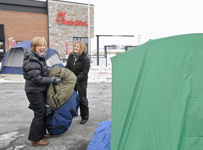 Chick-fil-A fans wait for Willowbrook opening