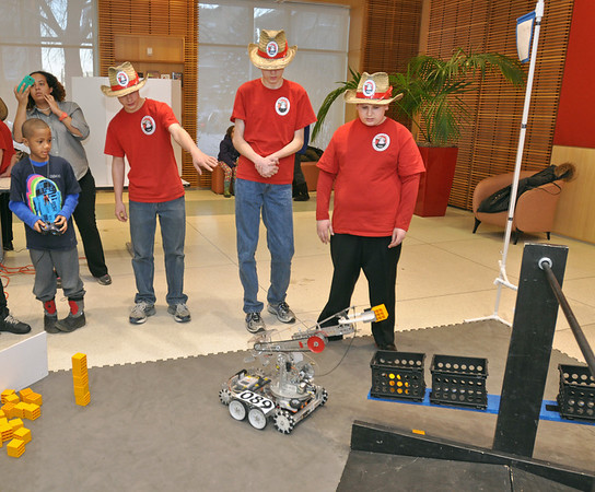 Robotics club at library