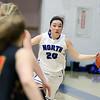 Jeff Krage – For Shaw Media<br /> St. Charles North's Samantha Novak brings the basketball up the court during Thursday's game against visiting Batavia.<br /> St. Charles 2/12/15