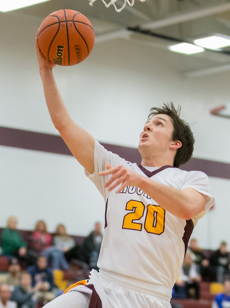 Richmond-Burton's Jakob Kaufman drives to the basket Friday Feb. 2, 2017 at Richmond-Burton High School in Richmond. Kaufman finished with 22 points in the 66-57 win over Johnsburg. KKoontz- for Shaw Media