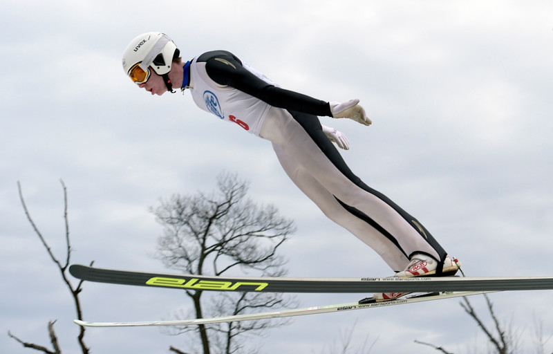Norge Ski Club U16 jumper Jacob Fuller competes Saturday, Feb. 11, 2017 for a spot to represent the Central Division for the Championships. This weekends tournament was the first time in Norge Ski Club's 112 year competition history that an event had been postponed.