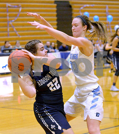 Downers Grove South girls basketball hosts Addison Trail