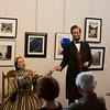 Mary Todd Lincoln, portrayed by Debra Ann Miller, and Abraham Lincoln, portrayed by Michael Krebs, recall how they first met at the Norris Cultural Arts Center on Feb. 5 in St. Charles.