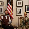 Abraham Lincoln portrayed by Michael Krebs and Mary Todd Lincoln portrayed, by Debra Ann Miller, during Meet the Lincolns at the Norris Cultural Arts Center on Feb 5 in St. Charles.