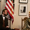 Mary Todd Lincoln, portrayed by Debra Ann Miller, and Abraham Lincoln, portrayed by Michael Krebs, discuss the war at the Norris Cultural Arts Center on Feb. 5 in St. Charles.