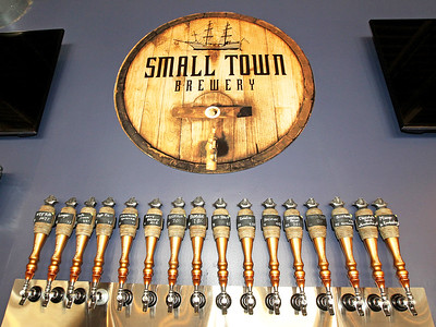 Candace H. Johnson-For Shaw Media Different Small Town Brewery specialty beers are on tap at their Tap Room in Wauconda.