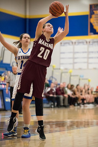 Whitney Rupp for Shaw MediaErin Haeflinger, Marengo, takes a shot during the conference game at Johnsburg Wednesday, Jan. 31.