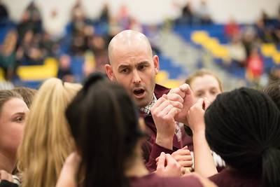 Whitney Rupp for Shaw MediaMarengo coach Nick Rode directs his team during a timeout at the Johnsburg game Wednesday, Jan. 31.